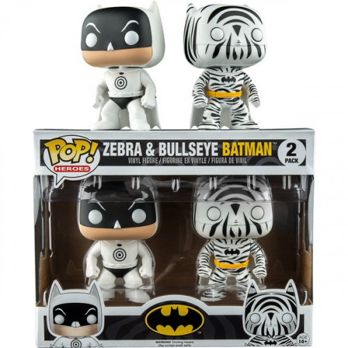 Pack Figurines Funko Pop! Heroes: Batman Bullseye & Zebra