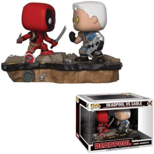 Figurine POP Movie Moments Marvel Deadpool vs. Cable