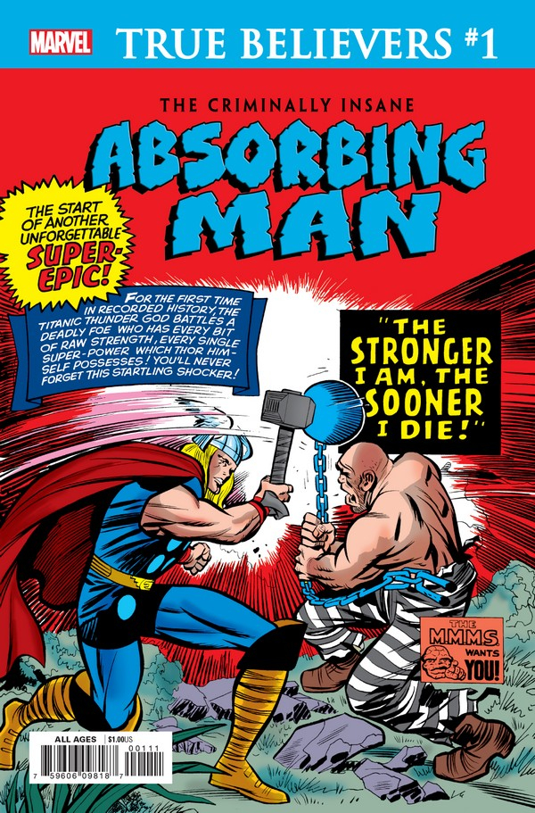 CRIMINALLY INSANE ABSORBING MAN 1 (VO)