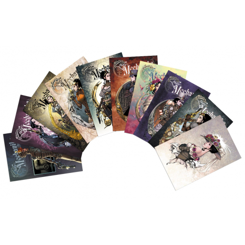 CARTE POSTALE LADY MECHANIKA - SERIE 1 - LOT DE 10