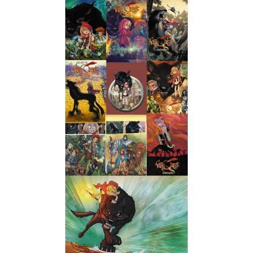 Lot Complet de Cartes Postales Fairy Quest Serie 1
