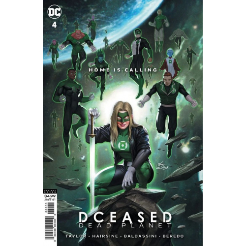 DCEASED: DEAD PLANET 4 card stock movie homage variant cover INHYUK LEE (VO)