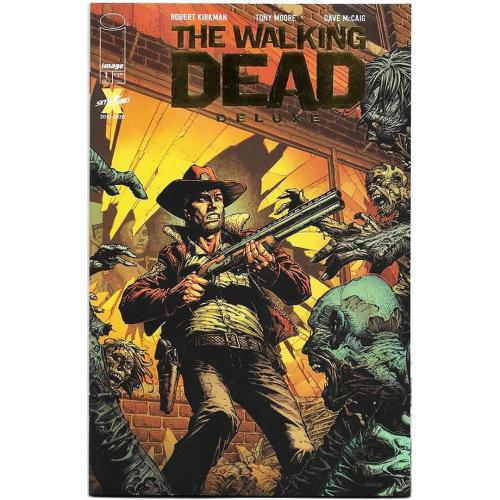 WALKING DEAD DELUXE 1 CVR G DAVID FINCH GOLD COVER