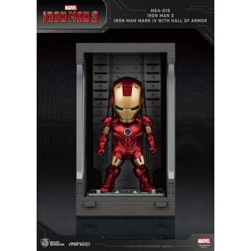 Marvel Comics - Iron Man 3 Mini Egg Attack figurine Hall of Armor Iron Man Mark IV 8 cm