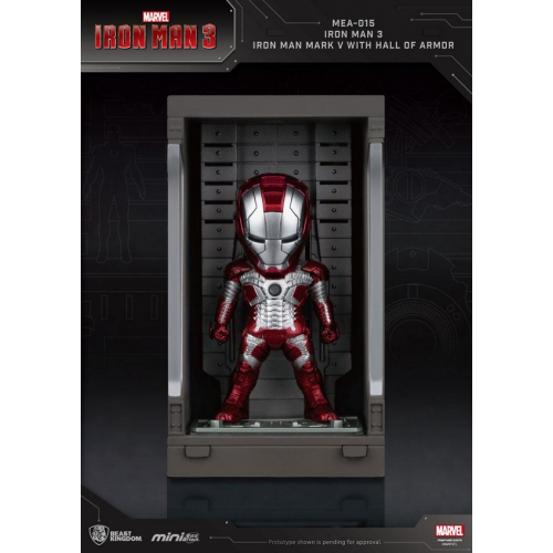 Marvel Comics - Iron Man 3 Mini Egg Attack figurine Hall of Armor Iron Man Mark V 8 cm