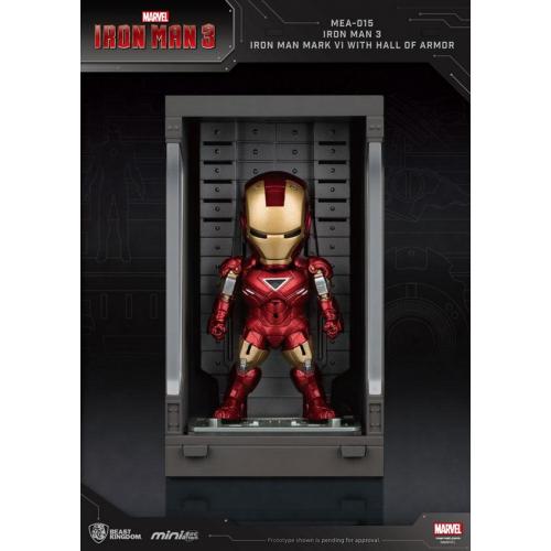 Marvel Comics - Iron Man 3 Mini Egg Attack figurine Hall of Armor Iron Man Mark VI 8 cm