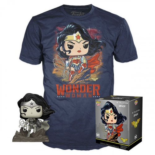 Funko Pop DC Jim Lee POP! & Tee - set figurine et T-Shirt Wonder Woman heo Exclusive