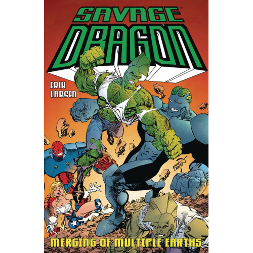 SAVAGE DRAGON MERGING OF MULTIPLE EARTHS TP (VO)