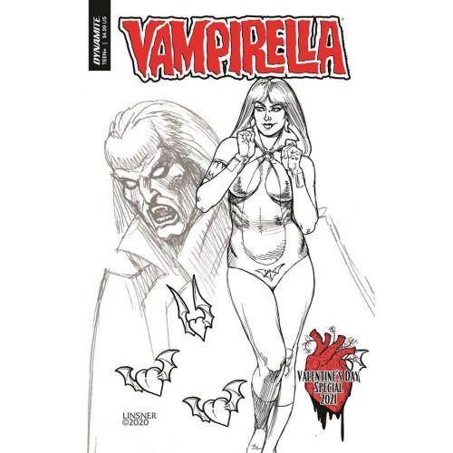 VAMPIRELLA VALENTINES SP ONE SHOT 20 COPY LINSNER B&W INCV (VO)