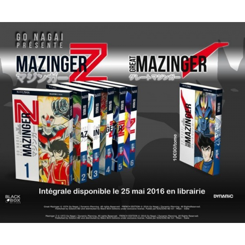 MAZINGER Z + GREAT MAZINGER - INTEGRALE 7 TOMES - GO NAGAI (VF)