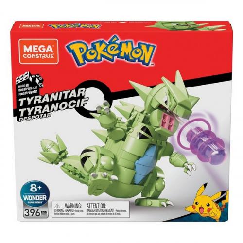 Pokémon jeu de construction Mega Construx Wonder Builders Tyranocif 15 cm
