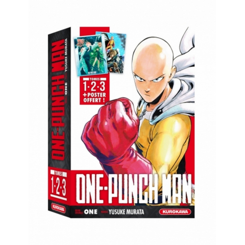 COFFRET - ONE-PUNCH MAN - tomes 1-2-3 + poster (VF)